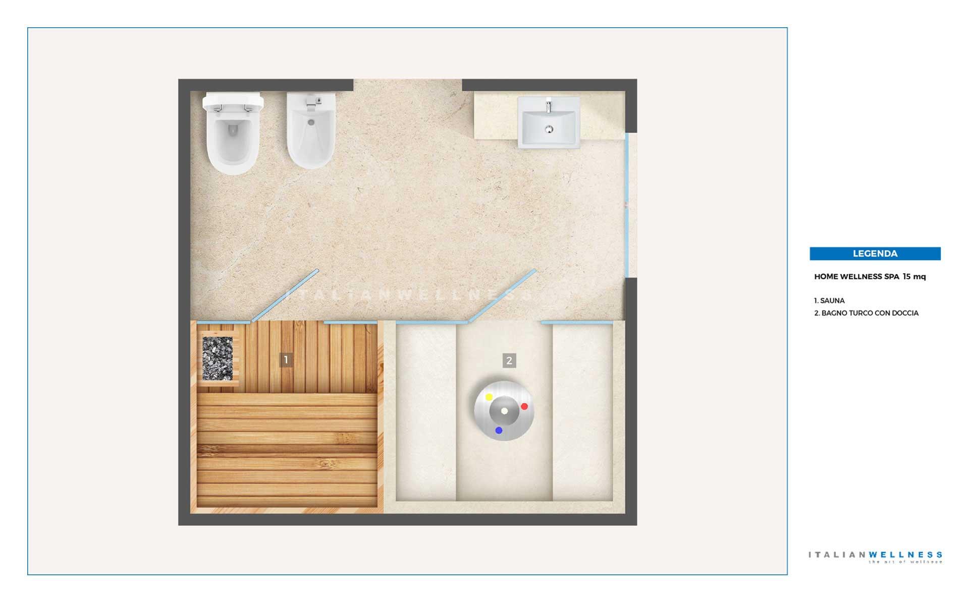 Realizzazione home wellness spa in casa for Piani di sauna a casa
