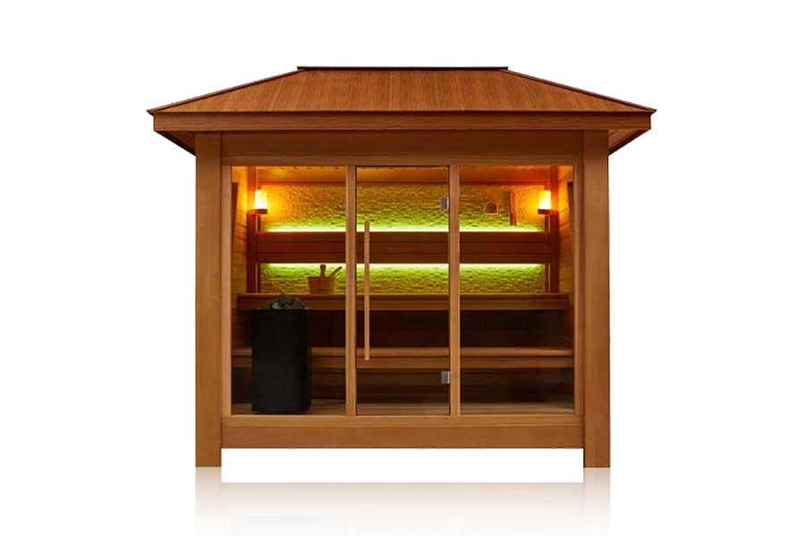 Saune da esterno italian wellness - Saune da casa prezzi ...